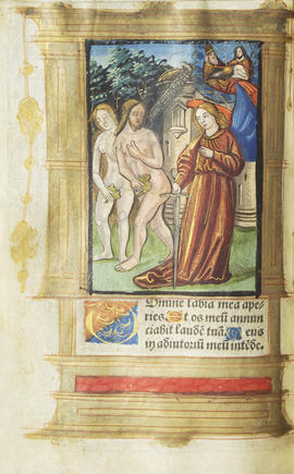 06 - Miniature depicting Adam and Eve being expelled from the Garden of Eden