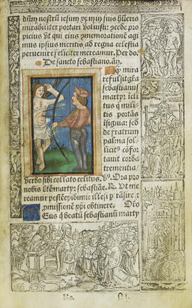 12 - Miniature depicting the martyrdom of Saint Sebastian