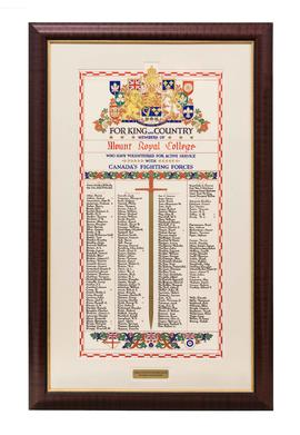 World War II roll of honour