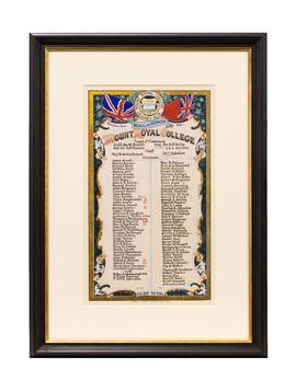 World War I roll of honour