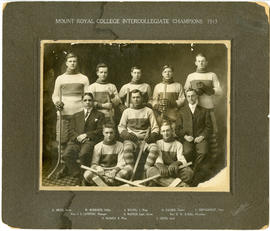 Mount Royal College intercollegiate champions 1913