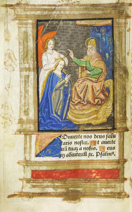 08 - Miniature possibly depicting the coronation of Mary